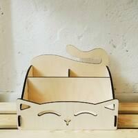 Органайзер из фанеры «Kawaii Cat»