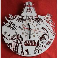 Часы Звездные войны Star Wars в подарок тихий ход для спальни детской