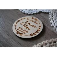 Весільний магніт з дерева Запрошувальні на весілля Дерев'яне запрошувальне