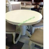 Білий круглий розкладний стіл МБ -1
