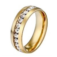 Кольцо Abbelin золотистое K103A, 7 размер