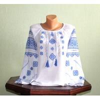 рубашка вышитая для девочки. ручная вышивка.