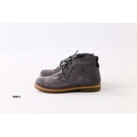 Демисезонные серые замшевые ботиночки
