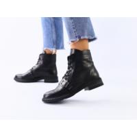 Кожаные черные зимние ботинки, 36