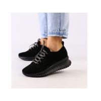 Женские черные замшевые кроссовки 36