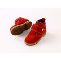 Красные замшевые зимние ботиночки