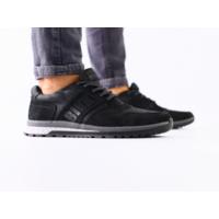 Мужские кроссовки черные, нубуккожа 40