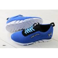 Мужские кроссовки в сеточку, синие 42