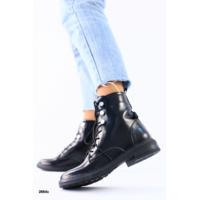 Зимние черные ботинки на шнуровке наплак 36