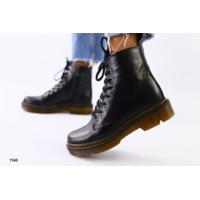 Женские черные кожаные демисезонные ботинки, 36
