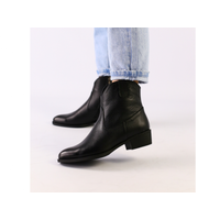 Женские черные демисезонные ботинки кожа флотар 37
