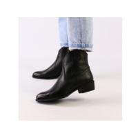 Женские черные демисезонные ботинки кожа флотар 38