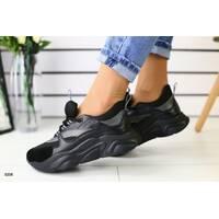 Женские кроссовки черные 40