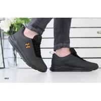 Мужские кроссовки черная сеточка с замшевыми вставками 44