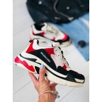 Женские кроссовки сетка с черными, красными, белыми вставками 41