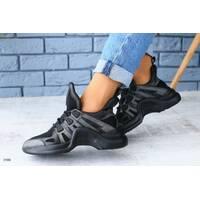 Женские черные кроссовки 38