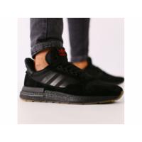 Мужские черные кроссовки замша сетка с черными кожаными вставки 44