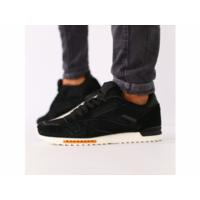 Мужские черные замшевые кроссовки с черными кожаными вставками 44