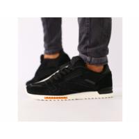 Мужские черные замшевые кроссовки с черными кожаными вставками 42