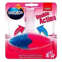 """Блок для унитаза освежающий """"Цветы"""" Sano Sanobon Double Action Floral 55 гр."""