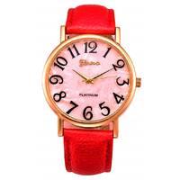 Часы GENEVA красные W300