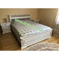 Дерев'яне двоспальне ліжко Ларго