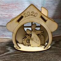 Новогодние деревянные заготовки символ года