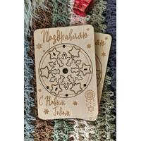 Новогодняя открытка - подвеска