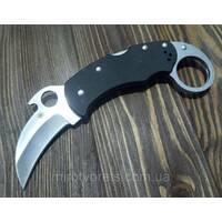 Нож керамбит  Spyderco, черный большой