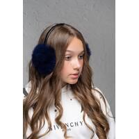 Хутряні навушники Flirt Уші темно-синій   (FL1353)