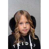 Хутряні навушники Flirt Уші чорний   (FL1349)