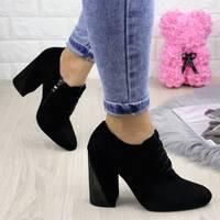 Туфли женские на каблуке черные Mary 1249