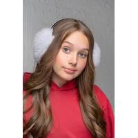 Хутряні навушники Flirt Уші світло-сірий   (FL1348)