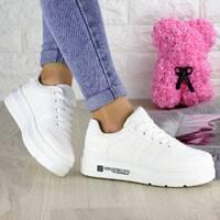 Стильные женские кроссовки Jean белые 1282