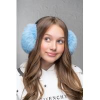 Хутряні навушники Flirt Уші блакитного   (FL1352)