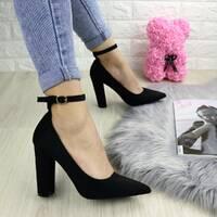 Туфли женские на каблуке черные Persy 1240