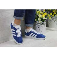 Кроссовки женские ярко синие Adidas Gazelle 4057