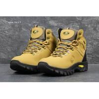 Мужские зимние ботинки Timberland рыжие 3489