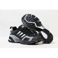 Кроссовки женские черные с белым Adidas Marathon Flyknit 5601