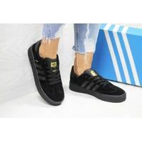 Кроссовки женские черные Adidas Samba 6161