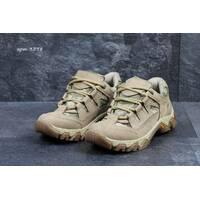 Мужские военные кроссовки бежевые 3278