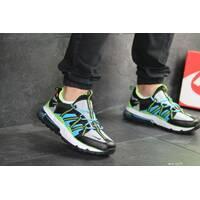 Мужские кроссовки черные с цветными вставками Nike 8133