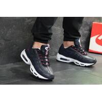 Мужские кроссовки темно синие с белым Nike 95 7077
