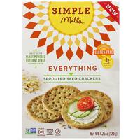 Simple Mills, Sprouted Seed Crackers, Everything, 4.25 oz
