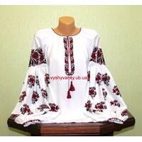 Женская рубашка вышитая старинным узором.  Черкащина. Ручная вышивка.