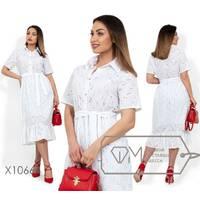 Платье-миди женское,батал р.  48-50, 52-54  Фабрика Моды XL X10664, Белый