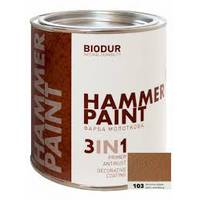 Фарба спеціального призначення молоткова 106 сріблясто-сіра Biodur 2,1л.