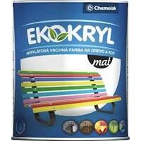 """Універсальна фарба акрилова """"V 2062 EKOKRYL"""" матовий коричневий кави 0,6л. (0,77 кг)"""
