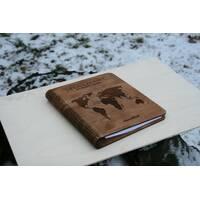 Стильний блокнот з дерев'яною обкладинкою  ач дерево