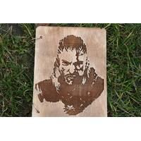 Стильный блокнот с деревянной обложкой  эко дерево по сериалу Ведьмак